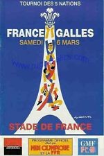 FRANCE v WALES 1999 RUGBY PROGRAMME & DVD SET, GREAT WIN FOR WALES IN PARIS