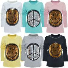 104 Langarm Mädchen-T-Shirts & -Tops mit Stretch-Stil in Größe