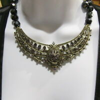 "Heidi Daus ""Paris Salon"" Crystal Necklace Choker Purple Lavender"