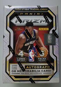2020-21 Panini Prizm NBA Basketball Blaster Box - 24 cards inc 1 Auto / Memo