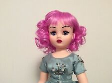 Doll Head Size Doll Wig Fun Pink Lavender Ringlet Style Fits Cissy & Other Dolls
