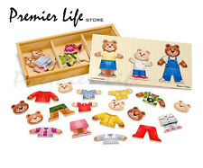 Bear Family Dress-Up Box Puzzle - Melissa & Doug
