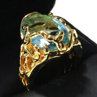 4.75 Ct Oval Aquamarine Ring Women Wedding Jewelry Gift 14K Rose Gold Plated