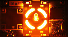 XBOX 360 BRIGHT ORANGE RING OF LIGHT RF BOARD MODULE - REPLACEMENT POWER BUTTON