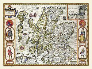 Scotland 1611 John Speed 1000 Piece Jigsaw Puzzle (jg)