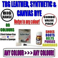 Leather Colour Dye for Leather Canvas Synthetic/Shoes/Boots/Trainers/Free Post 1