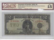 *1923*Dom of Canada DC-26f, $2 McC/Sau SN L-136124 ,Blk Seal Gr 2,  BCS F-15