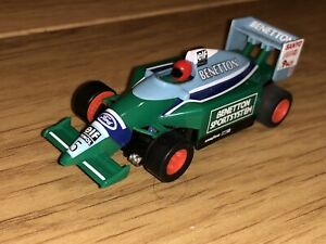 Micro Scalextric Hornby Vintage Slot Car F1 Benetton Tested Working