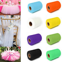"TULLE Roll Spool 6"" x 25/100'yd Tutu Wedding Decoration Party Bow Colours Pick"