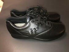 SAS Woman Free Time Tripad Comfort Black Leather Shoes Size 8.5 Slim Narrow USA