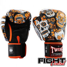Twins Boxing Gloves - Orange Skull - FREE P&P - Muay Thai, MMA, Boxing