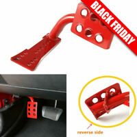 Steel Dead Pedal Left Side Foot Rest Kick Panel for 07-18 Jeep Wrangler JK Red