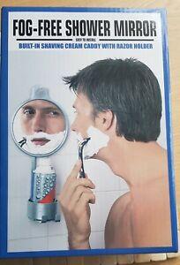 Fogless Suction Cup Mirror Shower Shave Make Up Fog Free & Razor /cream holder