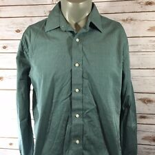 Tommy Hilfiger Mens Shirt Size 16 1/2 34-35 Green Long Sleeve (A8)