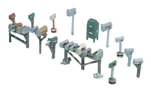 Woodland Scenics Assorted Mailboxes (17) HO D206