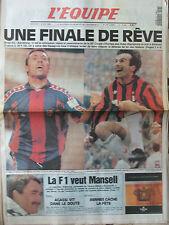 L'Equipe du 18/5/1994 - Foot : finale de la Coupe d'Europe : Milan-Barcelone