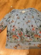 top/blouse size 3XL.very vollbrach.summer.holiday.wedding.birds.flowers.cruise.