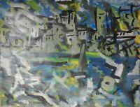 """André TELLIER  - """"""""Ramatuelle  """"  GOUACHE & ACRYLIQUE vers 1960/70"""