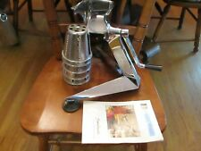 SALADMASTER Five Star Stainless FOOD PROCESSOR W/5 Cones