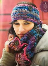 KNITTING PATTERN Ladies Chunky Cowl and Headband Button Detail Winter Noro