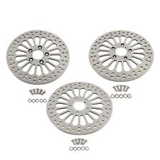 "11.5"" Brake Rotors Front & Rear 3pcs Super Spoke SS For Harley Touring Dyna"