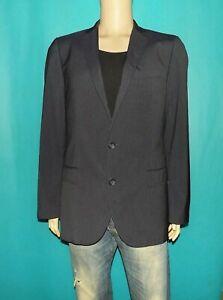 veste de costume HUGO BOSS aiko1/heise en coton melangé bleu a rayures taille 50