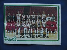 1980-81 Topps Team Pin-Ups Atlanta Hawks #1 team photo basketball NBA
