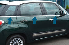 Chrome Side Door Window Sill Trim Set Covers To Fit Fiat 500L (2012+)