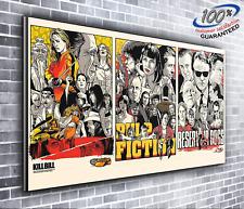 Kill Bill Pulp Fiction Reservoir Dogs Quentin Tarantino Panoramic Canvas Print x