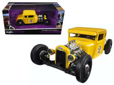 """1929 Ford Model A Yellow #2 """"Outlaws"""" 1/24 Diecast Model Car by Maisto"""