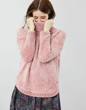 Joules Womens Chelsey Chenille Roll Neck Jumper - PINK