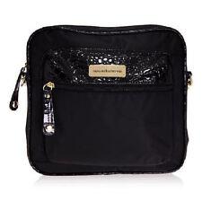 4e1fa4df55 Samantha Brown RFID Crossbody Bag Croco Embossed Trim   Detail Black New  WTags