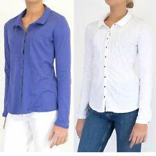 Womens White Stuff Shirt Long Sleeve Marigold Dream Jersey Button Blouse Ladies