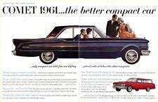 1961 Mercury Comet 4-door Station Wagon PRINT AD