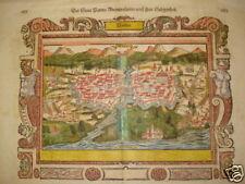 Parma Cremona Piacenza Emilia Romagna Sebastian Münster orig. um 1600! altkolor.