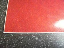 1 METRE OF FUNKY RED GLITTER UPHOLSTERY VINYL LEATHERETTE