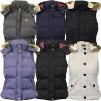 Ladies Gilet Brave Soul Womens Bodywarmer Hooded Jacket Padded Checked Winter