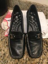 Walking Cradles Size 8N Black Leather Slip On Loafers Comfort Shoes