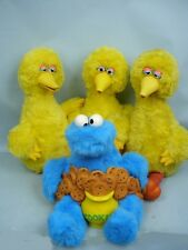 4 Story Magic Talking Big Birds & Talking Cookie Monster by Ideal - Parts/Repair