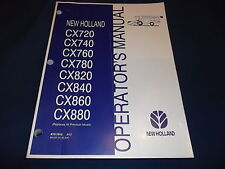 FORD NEW HOLLAND CX720-880 COMBINE OPERATION & MAINTENANCE MANUAL BOOK