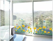Wandtattoo Wandaufkleber Deko Blume Sonnenblumen Pflanz Wohnzimmer sticker#7249