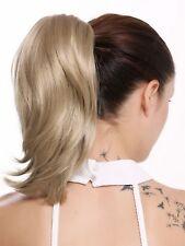 Hair Piece Braid Extension Butterfly Clip short Wide Volume Smooth Blonde 30cm