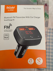 Anker Roav Bluetooth FM Transmitter AUX MP3 Audio Adapter Dual USB Car Charger