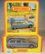 Matchbox Superfast nº 12 citroen cx break azul metalizado Hösbach nº 1 OVP #042