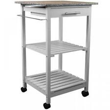 White Modern Trolleys with Drawers