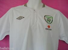 nw~Umbro Repbulic of IRELAND DAY Zip POLO jersey Soccer Football Shirt~Men sz XL