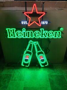 HEINEKEN BEER LIGHT UP BOTTLES LED BACK BAR ADVERTISING SIGN GAME ROOM HOLLAND
