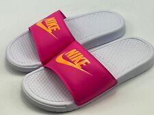 Nike Benassi JDI Womens Size 9 343881-109 White Pink - Brand New!