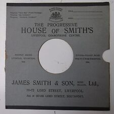 """10"""" 78rpm gramophone record sleeve HOUSE OF SMITH`S liverpool james smith & son"""
