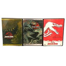Jurassic Park - 3 Dvd Lot - 1 & 2 Collector's Edition + Beyond - All Tested